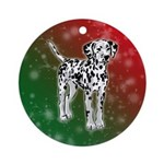 Dalmatian Holiday Design Ornament (Round)