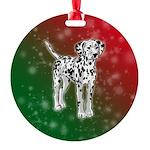 Dalmatian Holiday Design Ornament