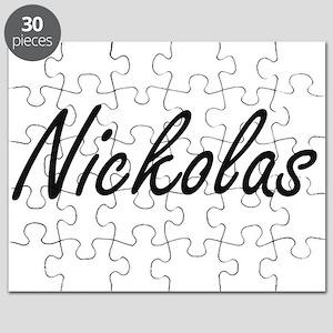 Nickolas Artistic Name Design Puzzle