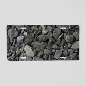 Rocks Aluminum License Plate