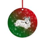 Cream Skye Terrier Ornament (round)