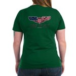 Live To Fly Version 1 Women's V-Neck Dark T-Shirt