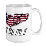 Live To Fly Version 1 Large Mug