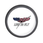 Live To Fly Version 1 Wall Clock
