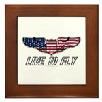 Live To Fly Version 1 Framed Tile