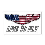 Live To Fly Version 1 Car Magnet 20 x 12