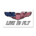 Live To Fly Version 1 Rectangle Car Magnet