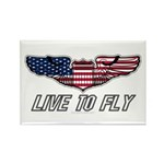 Live To Fly Version 1 Rectangle Magnet (100 pack)