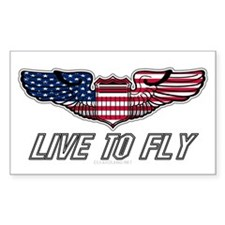Live To Fly Version 1 Sticker (Rectangle 10 pk)