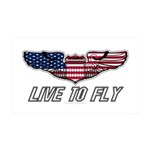 Live To Fly Version 1 35x21 Wall Decal