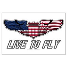 Live To Fly Version 1 Large Poster
