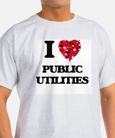 I Love Public Utilities T-Shirt