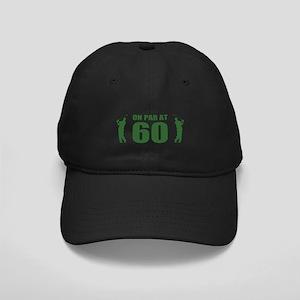 Golfer's 60th Birthday Black Cap