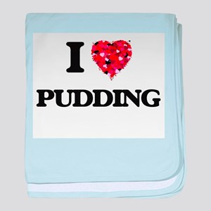 I Love Pudding baby blanket