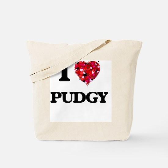 I Love Pudgy Tote Bag