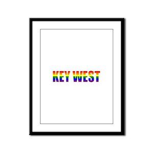 Key West Framed Panel Print