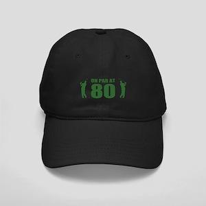 Golfer's 80th Birthday Black Cap