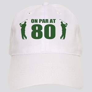 Golfer's 80th Birthday Cap