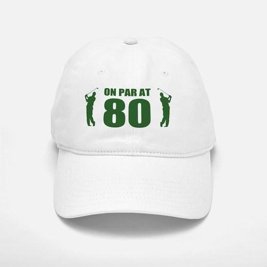 Golfer's 80th Birthday Baseball Baseball Cap