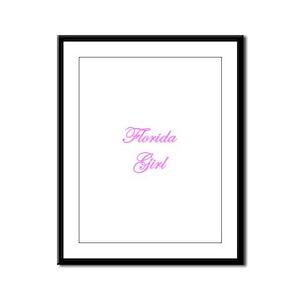 Florida Girl Framed Panel Print