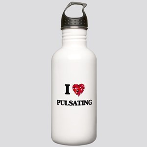 I Love Pulsating Stainless Water Bottle 1.0L