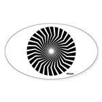45rpm Mod Spiral Oval Sticker