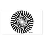 45rpm Mod Spiral Rectangle Sticker