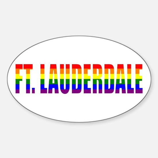 Ft. Lauderdale, Florida Oval Decal