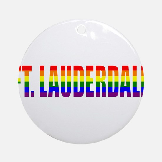 Ft. Lauderdale, Florida Ornament (Round)