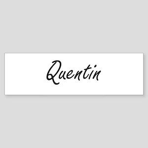 Quentin Artistic Name Design Bumper Sticker
