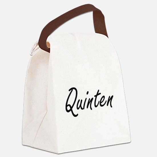 Quinten Artistic Name Design Canvas Lunch Bag