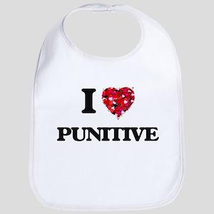 I Love Punitive Bib