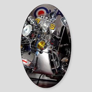 ACE FACE SCOOTER Sticker (Oval)