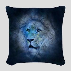 leo lion Woven Throw Pillow