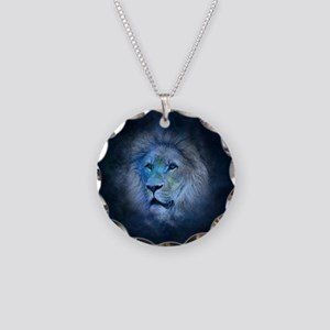 leo lion Necklace Circle Charm