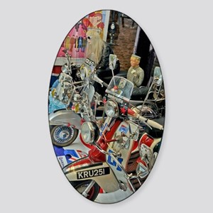 SCOOTERS , MODS GS Sticker (Oval)