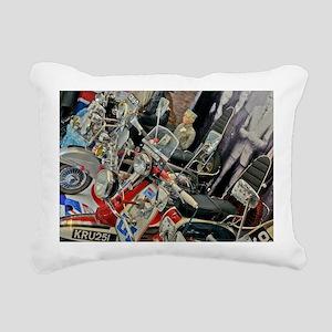 MODS SCOOTERS QUADROPHEN Rectangular Canvas Pillow