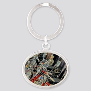 MODS SCOOTERS QUADROPHEN Oval Keychain