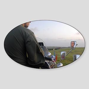 VESPA PRETTY GREEN , MOD Sticker (Oval)