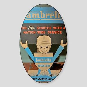 LAMBRETTA DEALER  Sticker (Oval)