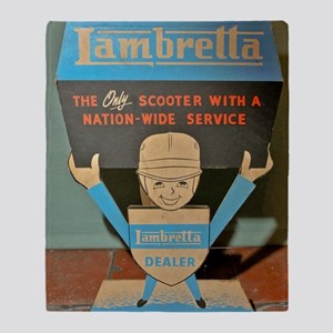 LAMBRETTA DEALER  Throw Blanket