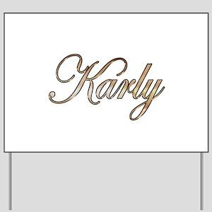 Gold Karly Yard Sign