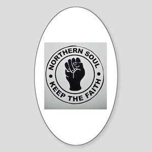 KEEP THE FAITH  Sticker (Oval)