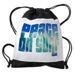 Peace On Surf Drawstring Bag