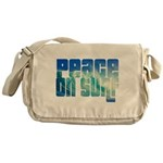 Peace On Surf Messenger Bag