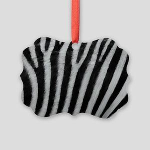 Zebra Texture Picture Ornament