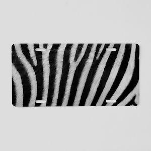 Zebra Texture Aluminum License Plate