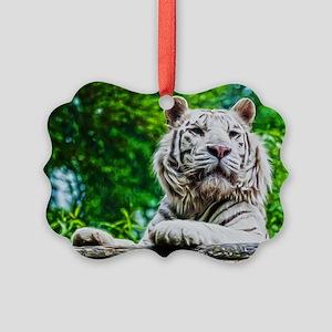 White Tiger Picture Ornament