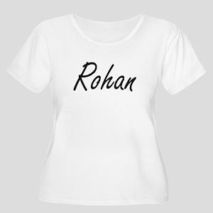 Rohan Artistic Name Design Plus Size T-Shirt