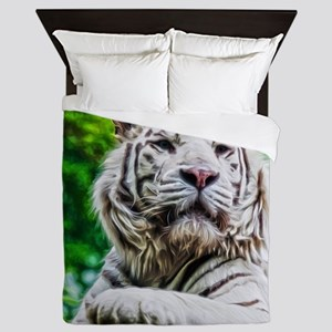 White Tiger Queen Duvet